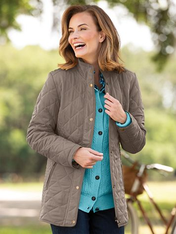 Diamond Quilted Jacket - Image 1 of 11