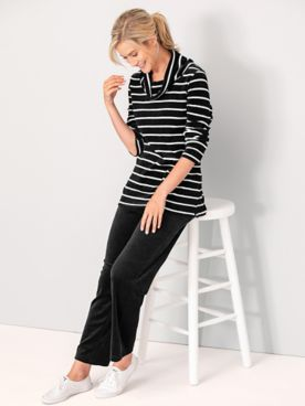 Cozy Up Velour Stripe Set