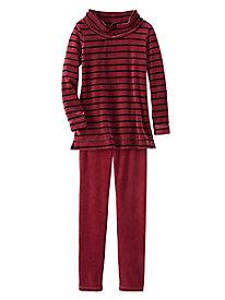 Cozy Up Velour Stripe Set