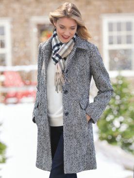 Larry Levine Updated Wool Coat