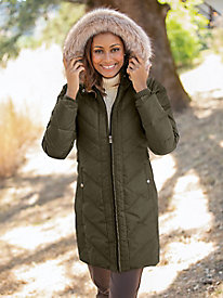 Larry Levine Long Puffer Coat