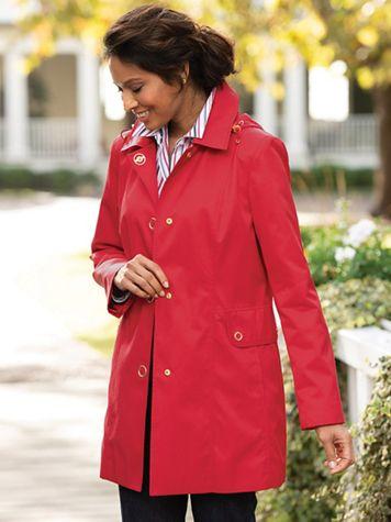 Anne Klein Hooded Raincoat - Image 1 of 6