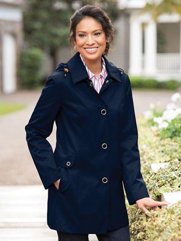 Anne Klein Hooded Raincoat - Image 5 of 5