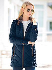 Weatherproof Quilted Coat
