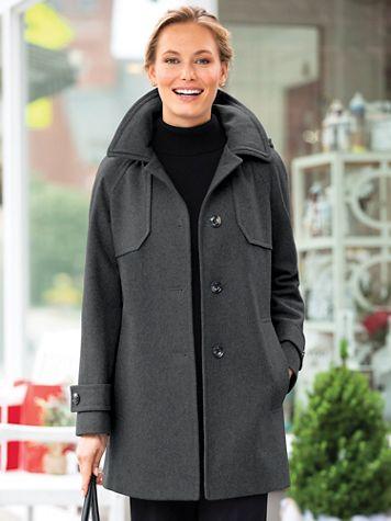 London Fog Wool Hooded Coat