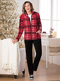 Plaid Velour Set