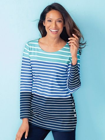 Everyday Knit Striped Long-Sleeve Tunic - Image 3 of 3