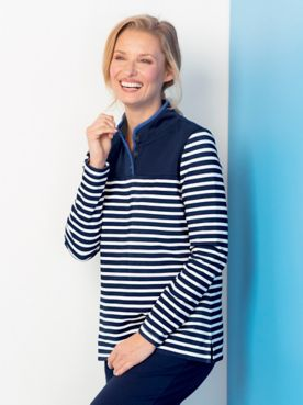 Sport Stripe Pullover