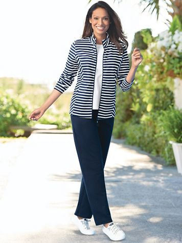 Stripe French Terry Active Set - Image 1 of 3