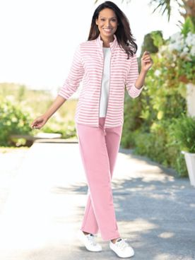 Stripe French Terry Active Set