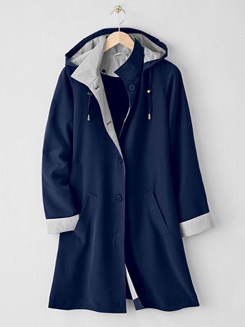 3/4-Length 3-Season Hooded Raincoat - Image 1 of 3