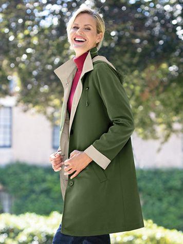 3/4-Length 3-Season Hooded Raincoat - Image 5 of 5