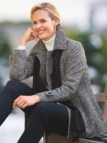 London Fog Wool Scarf Coat - Image 1 of 6