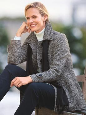 London Fog Wool Scarf Coat