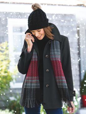 London Fog Wool Scarf Coat