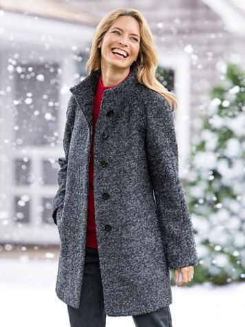 Anne Klein® Boucle Coat - Image 1 of 4