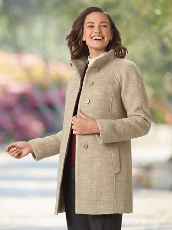 Anne Klein® Boucle Coat - Image 1 of 2