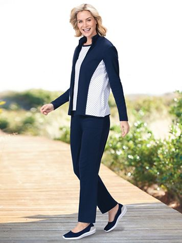 On-The-Dot 3-Pc. Knit Active Set - Image 5 of 5