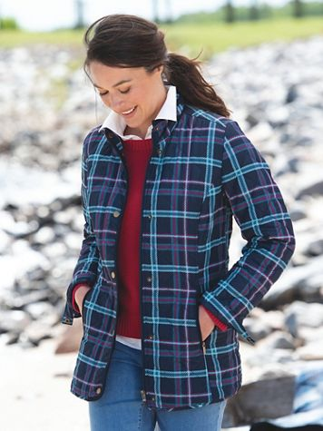 Diamond-Quilted Plaid Jacket - Image 4 of 4
