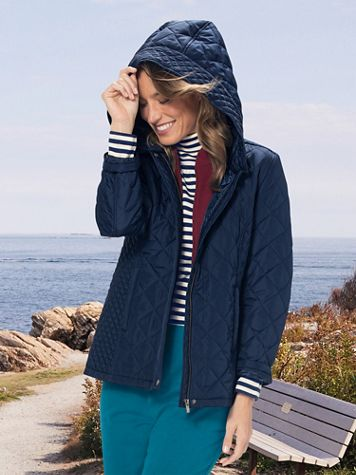 Hooded Quilted Jacket - Image 1 of 4
