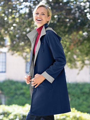 3/4 Length 3 Season Raincoat with Hood - Image 1 of 5