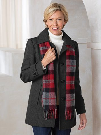 Wool Coat with Scarf - Image 1 of 1