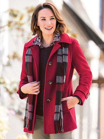 Wool Coat with Scarf - Image 1 of 8