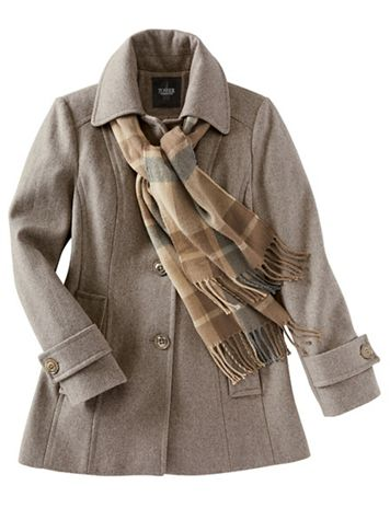 Wool Coat with Scarf - Image 2 of 9
