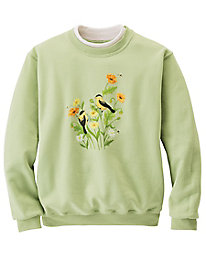Embroidered Fleece Sweatshirt by Morning Sun