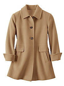 Larry Levine A Line Wool Blend Coat