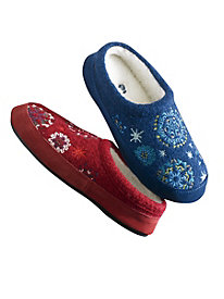 Snowflake Slippers by Acorn®