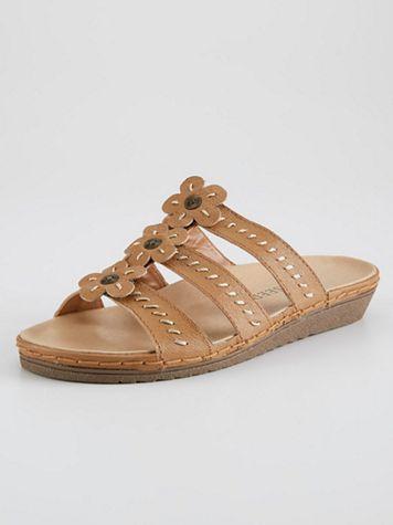 Alison Flower Slide Sandal