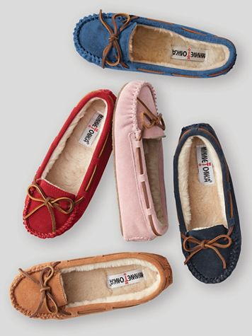 Minnetonka® Cally Suede Moccasin Slipper - Image 1 of 5