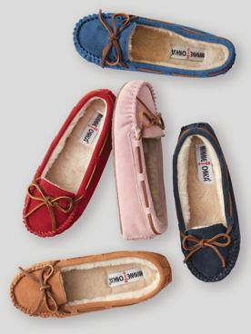 Minnetonka® Cally Suede Moccasin Slipper