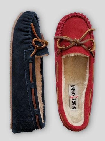 Minnetonka® Cally Suede Moccasin Slipper - Image 1 of 3