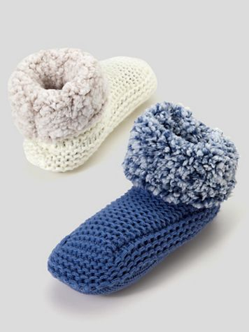 Muk Luks Solid Knit Slipper Bootie - Image 1 of 1