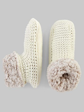 Muk Luks Solid Knit Slipper Bootie - Image 2 of 2