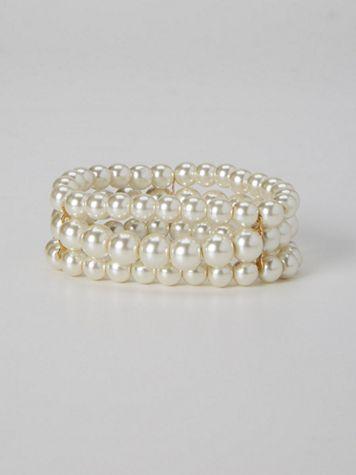 Triple-Strand Pearl Bracelet - Image 1 of 5