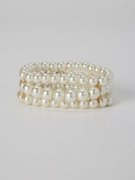 Triple-Strand Pearl Bracelet