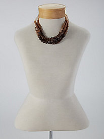 Marbled Multi-Strand Necklace