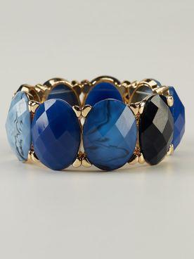 Blue & Gold Bracelet