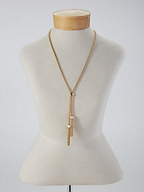 New 1920s Costume Jewelry- Earrings, Necklaces, Bracelets Gold Tassel Necklace $29.99 AT vintagedancer.com