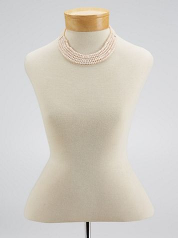 Rose Light Beaded Necklace