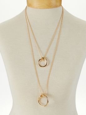 Multi-Length Layered Knot Necklace