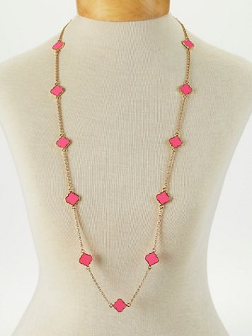 Long Tile Necklace