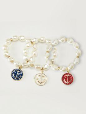 Victoria Anchor Stretch Bracelet