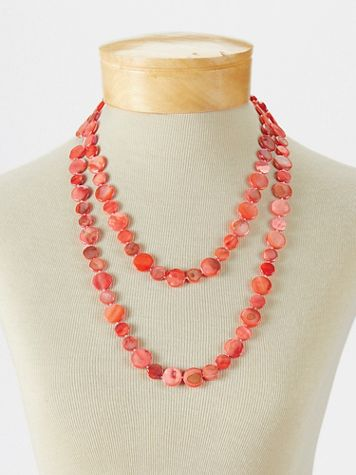 Hand-Dyed Mother-Of-Pearl Necklace - Image 1 of 3