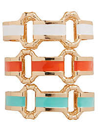 Megan Enamel-Links Cuff Bracelet