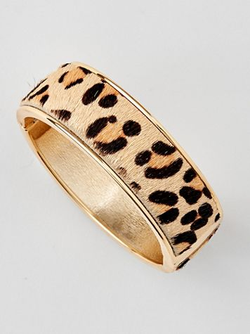 Cheetah-Print Magnetic Bangle - Image 1 of 2