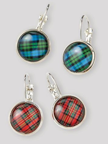 Print Dome Drop Earrings - Image 1 of 3